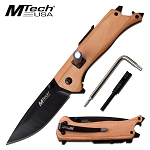 Pocket Folding Knife Outdoor Adventure Camping Knife Natural Wood