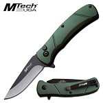 Mtech USA 6.75 Inch Manual Folding Pocket Knife Green
