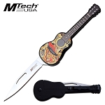 Guitar Manual Folding Pocket Knife Mtech Knives