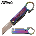 Mtech Manual Pocket Knife Rainbow Bottle Opener Knife