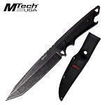 Fixed Blade Hunting Knife 6.25 Inch Tanto Full Tang Blade Stonewashed