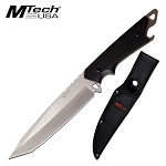 Fixed Blade Hunting Knife 6.25 Inch Tanto Full Tang Blade Satin