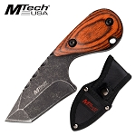 Mtech Full Tang Fixed Blade Knife Small Hunting Knife Brown Pakkawood