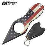 Mtech Knife USA Flag Fixed Blade Boot Knife Neck Knife