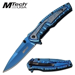 Spring Assisted Opening Folding Pocket Knife Blue
