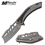Mtech Cleaver Blade Knife Spring Assisted Knife Gray
