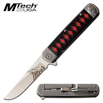 Silver Devil Fantasy Spring Assisted Opening Pocket Knife