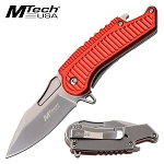 Mtech Spring Assisted Knife Red Handle with Bottle Opener