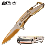 Pocket Knife by Mtech USA Spring Assisted Knife Gold