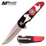 Pocket Knife by Mtech Spring Assisted Knife Firefighter Knife