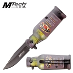 Pocket Knife Masters Malt Bottle Design Spring Assisted Knife