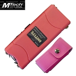 3.5 Million Volt Rechargeable Stun Gun with LED Light Pink