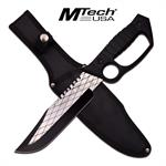 MTech USA Midnight Ops Knuckle Handle Fixed Blade Knife Checkered Blade