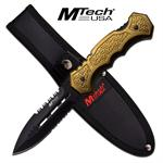 Mtech USA 9 Inch Fixed Blade Push Dagger Design Knife - Army Green