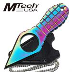 Rainbow MTech Grenade Style Neck Knife