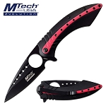 Mtech Pocket Knife Black Rose Spring Assisted Knife