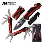 Mtech USA Folding Pocket Knife with 18 Function Multi-Tool Plier