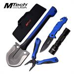 Mtech Outdoor Survival Camping Kit with Tactical Folding Pocket Knife