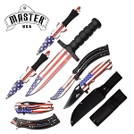 American Flag Combo Knife Set