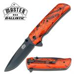 Orange Tree Camo Spring Assisted Opening Fantasy Folder Knife
