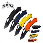 Master USA Spring ASsisted Folding Pocket Knife 12 Pieces Assorted Colors