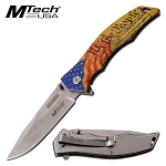 We the People Blade Spring Assisted Folding Knife USA Flag Handle FC