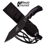 MTech USA Xtreme Full Tang Fixed Blade Knife Black Pakka Wood Handle