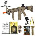 Lancer Tactical MK18 MOD0 Airsoft M4 RIS Automatic Electric AEG Rifle Tan