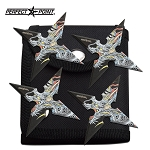 Dragon Ninja Star Four Piece Set Perfect Point Throwing Stars