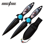 Throwing Knives 7.5 Inch Native American 2 Piece Throwing Knife Set
