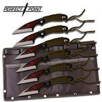 7.5 Inch Throwing Knife 6 Piece Set with Dragon Graphic Blade