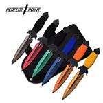 Perfect Point Throwing Knife 6 Piece Set - Multi Color Grinding Line