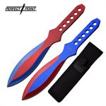 Perfect Point Blue and Red Throwing Knife 2 Piece Set