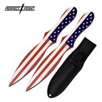 Perfect Point 2 Piece Set 8 Inch Throwing Knives American Flag
