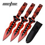 Throwing Knife 3 Piece Set Red Dragon Handle