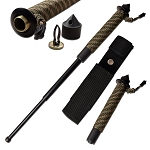 22 Inch Tactical Expandable Baton Paracord Wrapped Skull Breaker Handle