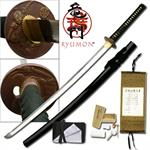 Ryumon 40 Inch Hand Forged Japanese Clay Tempered Steel Samurai Katana Sword