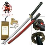 Ryumon Raijin Hand Forged Folded Carbon Steel Katana Sword