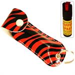 Snake Skin Pattern Personal Defense Pepper Spray OC-18 1/2 oz - Red Zebra