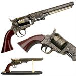 Western Style Navy Revolver Comes With The Display Stand
