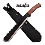 Survivor 20 Inch Machage Knife with Sawback Blade