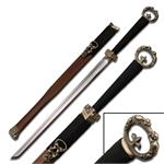 35 Inch Hand Made Chinese Emperor's Sword with Blood Grove
