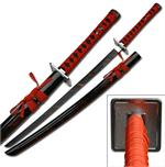 40 Inch Overall Samurai Sword With Blood Splash