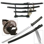 Last Samurai Movie Sword 3 Piece Set with Stand