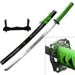 40 Inch Samurai Katana  Sword 4MM Thick Carbon Steel Blade - Green