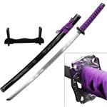 40 Inch Samurai Katana  Sword 4MM Thick Carbon Steel Blade - Purple