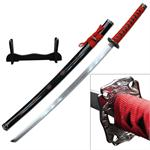 40 Inch Samurai Katana  Sword 4MM Thick Carbon Steel Blade - Red