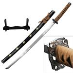 40 Inch Samurai Katana  Sword 4MM Thick Carbon Steel Blade - Tan