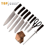 Top Chef Dynasty 9 Piece Block Kitchen Knife Set