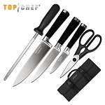 Top Chef Samurai 6 Piece Carrying Case Kitchen Knife Set